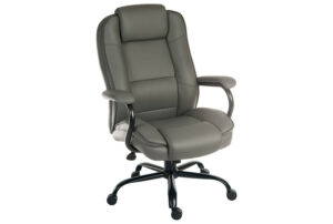 Colossal Duo Executive Grey Leather Chair