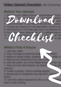 Download checklist for YiuTube